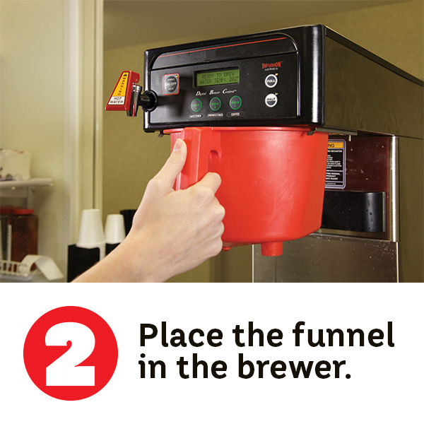 Step 2. Place the funnel in the brewer.